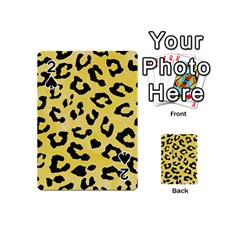 Skin5 Black Marble & Yellow Watercolor (r) Playing Cards 54 (mini)