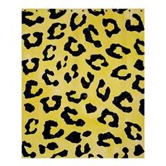 Skin5 Black Marble & Yellow Watercolor (r) Shower Curtain 60  X 72  (medium)