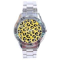 Skin5 Black Marble & Yellow Watercolor (r) Stainless Steel Analogue Watch