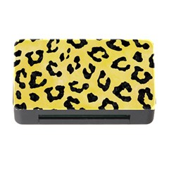 Skin5 Black Marble & Yellow Watercolor (r) Memory Card Reader With Cf