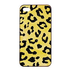 Skin5 Black Marble & Yellow Watercolor (r) Apple Iphone 4/4s Seamless Case (black)