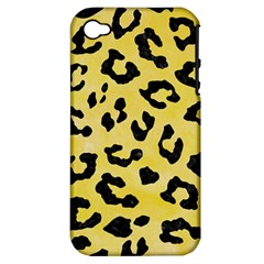 Skin5 Black Marble & Yellow Watercolor (r) Apple Iphone 4/4s Hardshell Case (pc+silicone)