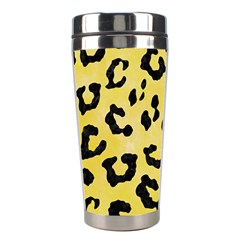 Skin5 Black Marble & Yellow Watercolor (r) Stainless Steel Travel Tumblers