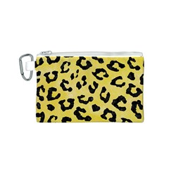 Skin5 Black Marble & Yellow Watercolor (r) Canvas Cosmetic Bag (s)