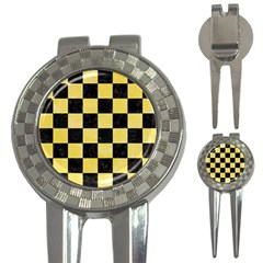 Square1 Black Marble & Yellow Watercolor 3 In 1 Golf Divots