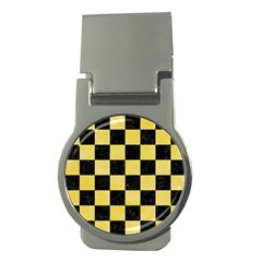 Square1 Black Marble & Yellow Watercolor Money Clips (round)