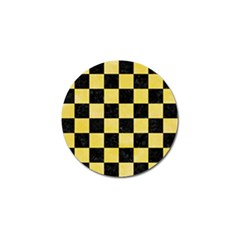 Square1 Black Marble & Yellow Watercolor Golf Ball Marker