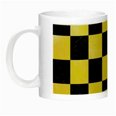 Square1 Black Marble & Yellow Watercolor Night Luminous Mugs