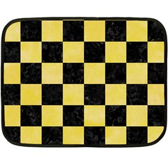 Square1 Black Marble & Yellow Watercolor Fleece Blanket (mini)