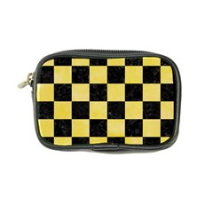 Square1 Black Marble & Yellow Watercolor Coin Purse