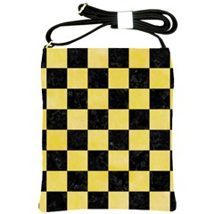 Square1 Black Marble & Yellow Watercolor Shoulder Sling Bags