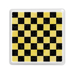 Square1 Black Marble & Yellow Watercolor Memory Card Reader (square)