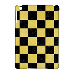 Square1 Black Marble & Yellow Watercolor Apple Ipad Mini Hardshell Case (compatible With Smart Cover)