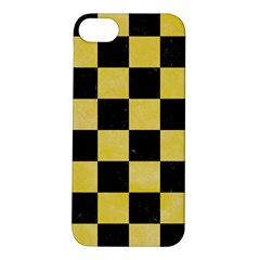 Square1 Black Marble & Yellow Watercolor Apple Iphone 5s/ Se Hardshell Case