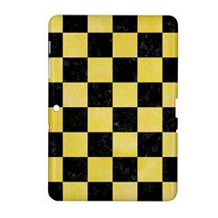 Square1 Black Marble & Yellow Watercolor Samsung Galaxy Tab 2 (10 1 ) P5100 Hardshell Case