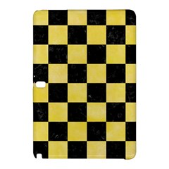 Square1 Black Marble & Yellow Watercolor Samsung Galaxy Tab Pro 12 2 Hardshell Case