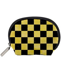Square1 Black Marble & Yellow Watercolor Accessory Pouches (small)