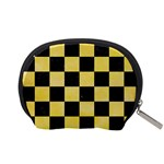 SQUARE1 BLACK MARBLE & YELLOW WATERCOLOR Accessory Pouches (Small)  Back
