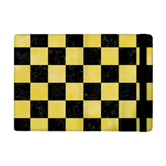 Square1 Black Marble & Yellow Watercolor Ipad Mini 2 Flip Cases