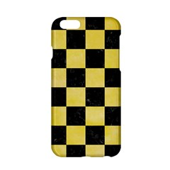 Square1 Black Marble & Yellow Watercolor Apple Iphone 6/6s Hardshell Case