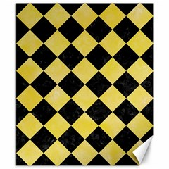 Square2 Black Marble & Yellow Watercolor Canvas 8  X 10