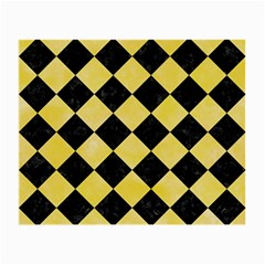 Square2 Black Marble & Yellow Watercolor Small Glasses Cloth (2 Side)