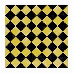 Square2 Black Marble & Yellow Watercolor Medium Glasses Cloth (2 Side)