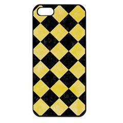 Square2 Black Marble & Yellow Watercolor Apple Iphone 5 Seamless Case (black)