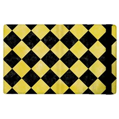 Square2 Black Marble & Yellow Watercolor Apple Ipad 2 Flip Case