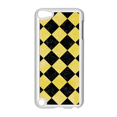 Square2 Black Marble & Yellow Watercolor Apple Ipod Touch 5 Case (white)