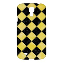 Square2 Black Marble & Yellow Watercolor Samsung Galaxy S4 I9500/i9505 Hardshell Case