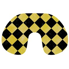 Square2 Black Marble & Yellow Watercolor Travel Neck Pillows