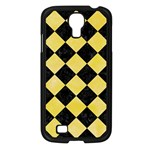 SQUARE2 BLACK MARBLE & YELLOW WATERCOLOR Samsung Galaxy S4 I9500/ I9505 Case (Black) Front