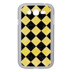 Square2 Black Marble & Yellow Watercolor Samsung Galaxy Grand Duos I9082 Case (white)