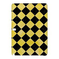 Square2 Black Marble & Yellow Watercolor Samsung Galaxy Tab Pro 12 2 Hardshell Case