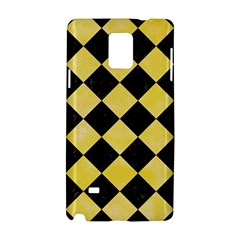 Square2 Black Marble & Yellow Watercolor Samsung Galaxy Note 4 Hardshell Case