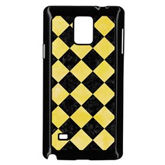 Square2 Black Marble & Yellow Watercolor Samsung Galaxy Note 4 Case (black)