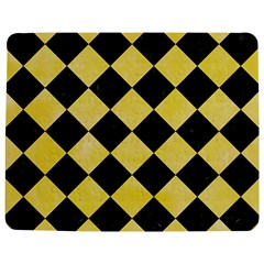 Square2 Black Marble & Yellow Watercolor Jigsaw Puzzle Photo Stand (rectangular)