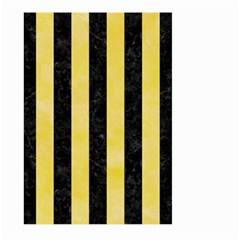 Stripes1 Black Marble & Yellow Watercolor Large Garden Flag (two Sides)