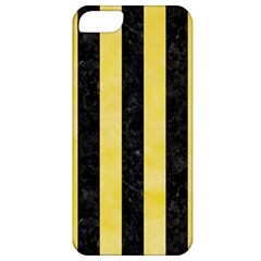 Stripes1 Black Marble & Yellow Watercolor Apple Iphone 5 Classic Hardshell Case