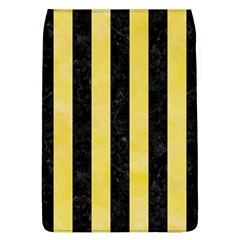 Stripes1 Black Marble & Yellow Watercolor Flap Covers (l)