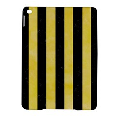 Stripes1 Black Marble & Yellow Watercolor Ipad Air 2 Hardshell Cases