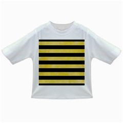 Stripes2 Black Marble & Yellow Watercolor Infant/toddler T Shirts