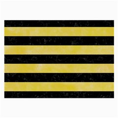 Stripes2 Black Marble & Yellow Watercolor Large Glasses Cloth (2 Side)
