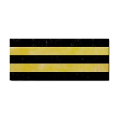 Stripes2 Black Marble & Yellow Watercolor Cosmetic Storage Cases