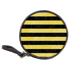Stripes2 Black Marble & Yellow Watercolor Classic 20 Cd Wallets