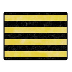Stripes2 Black Marble & Yellow Watercolor Fleece Blanket (small)