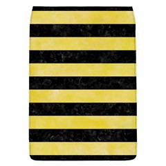 Stripes2 Black Marble & Yellow Watercolor Flap Covers (l)