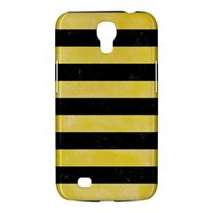 Stripes2 Black Marble & Yellow Watercolor Samsung Galaxy Mega 6 3  I9200 Hardshell Case