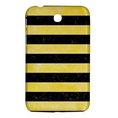 Stripes2 Black Marble & Yellow Watercolor Samsung Galaxy Tab 3 (7 ) P3200 Hardshell Case